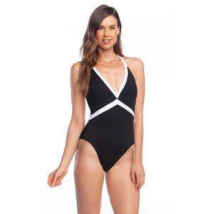 NWT Lauren Ralph Lauren Bel Aire V-Neck Swimsuit